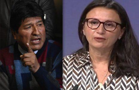 Bolivia. Morales acusa a la portavoz de la UE de defender 'a los que asesinaron a indígenas'