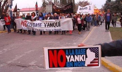 Argentina. Una multitud repudió la construcción de una base de EE.UU en Neuquén (videos)