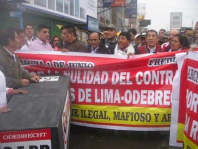 Perú. La Unión de Frentes Regionales interpela al Ministro de Trabajo