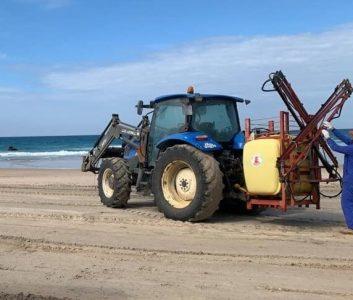 Advierten que la orden de la Junta (PP-C's-Vox) de limpiar las playas con lejía es inútil y peligrosa para el medio ambiente