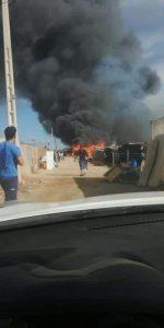 Almería: Un incendio calcina un poblado chabolista de jornaleros de los invernaderos en Níjar