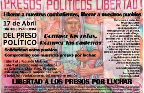 Argentina. 17 de abril, Día Internacional del preso y la