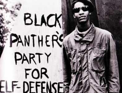 Black-Panthers-Party-for-Self-Defense-young-Panther-beside-sign-on-wall-cropped