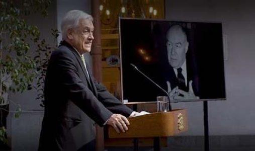 Chile. El dictador Piñera homenajeó al fallecido ex ministro de