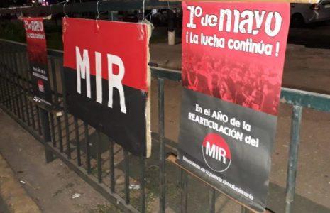 Chile. Por el 1º de Mayo integrantes del MIR levantaron