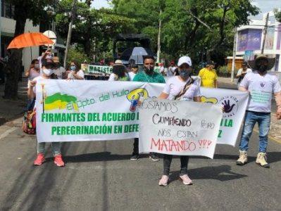 Colombia. Excombatientes marchan hacia Bogotá en contra de la violencia