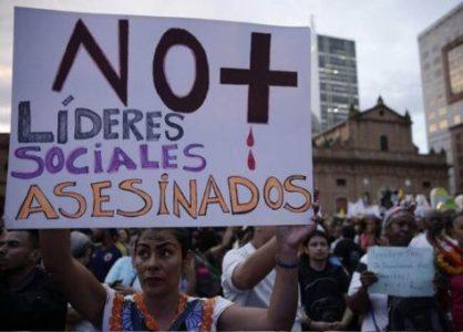 Colombia. Asesinan a 5 líderes sociales en menos de 24