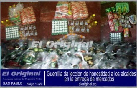 Colombia. Guerrilla da lección de honestidad a los alcaldes, en