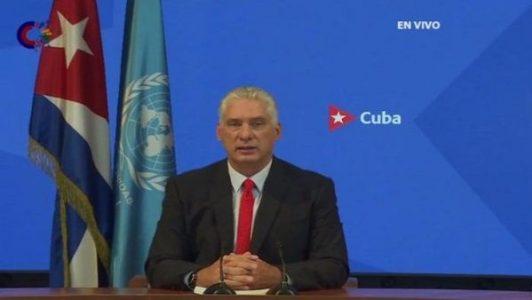 Cuba. Presidente reitera denuncia ante la ONU sobre presiones de