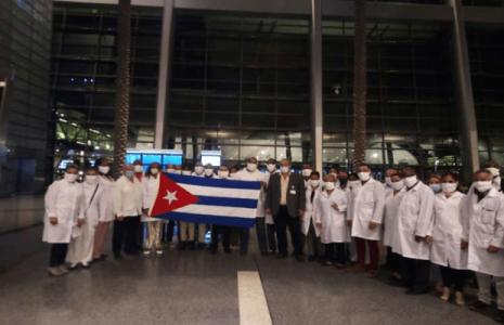 Cuba. Arriba a Qatar brigada médica para combatir la Covid-19