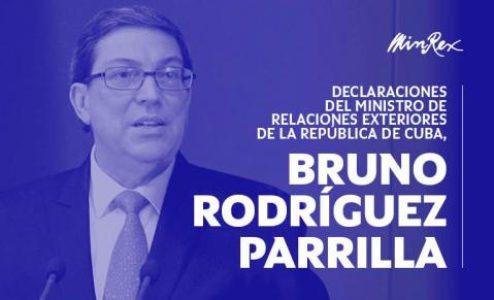 Cuba. Declaración del Canciller Bruno Rodríguez por el atentado a