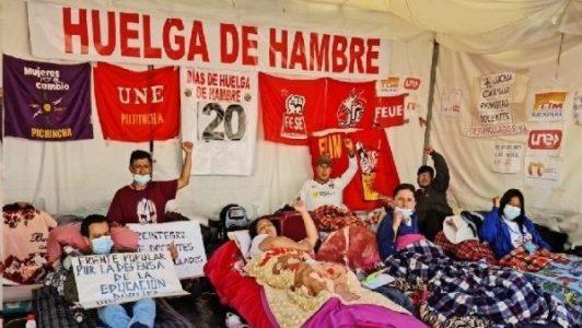 Ecuador. Huelga de hambre de docentes cumple 21 días