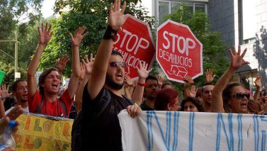 Granada: Parado desahucio de las naves de Villa Pineda