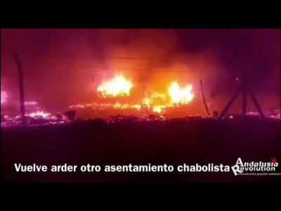 Huelva: Vuelve a arder otro asentamiento chabolista de inmigrantes en Palos de la Frontera