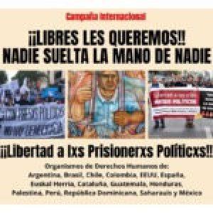 Internacional. Campaña mundial por la libertad de las presas y los presos políticos