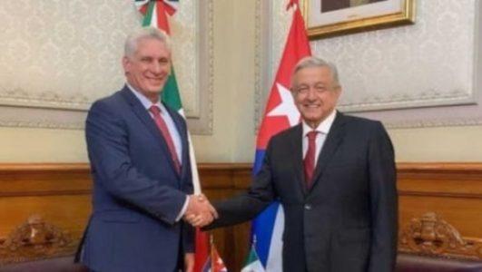 México . López Obrador confirma visita del presidente de Cuba