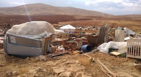 Palestina. Fuerzas de ocupación israelíes llevan a cabo la demolición