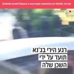 Palestina: Un soldado israelí dispara a una mujer desarmada en Sheikh Jarrah