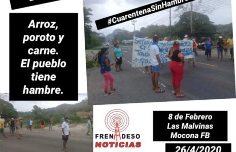 Panamá. Con la consigna «Cuarentena sin hambre» el pueblo sale