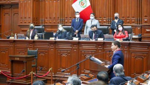 Perú. Voto de confianza: Se suspendió la sesión del Congreso