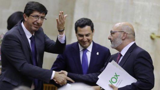 """Todas las fuerzas del Parlamento (Vox, PP, C's,PSOE y AA) acuerdan crear unos nuevos """"pactos de Antequera"""" – La otra Andalucía"""